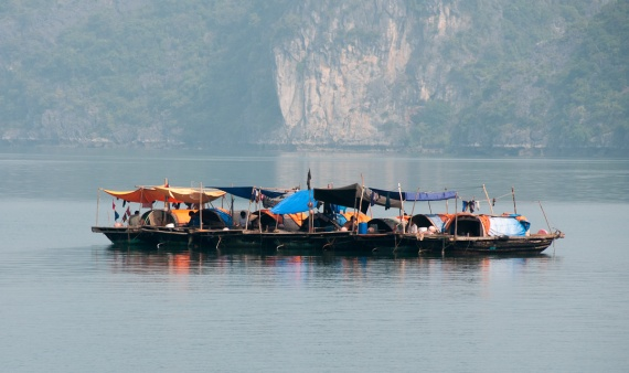 Fishermen of Halong Bay-